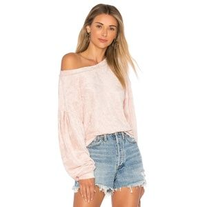 Free People Crushed Velvet Top XS
